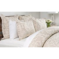 Villa Home Lido Jacquard Reversible Queen Duvet Cover in Natural/Ivory