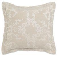 Villa Home Lido Jacquard European Pillow Sham in Natural/Ivory