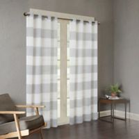 Urban Habitat Mason Yarn Dyed Woven Sheer 63-Inch Window Curtain Panel in Grey