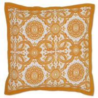 Villa Home Resort European Pillow Sham in Gold/White