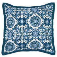 Villa Home Resort European Pillow Sham in Blue/White