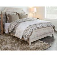 Villa Home Resort Queen Duvet Cover in Brown/White