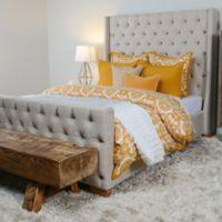 Villa Home Resort Twin Duvet Cover in Gold/White