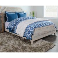 Villa Home Resort King Duvet Cover in Blue/White