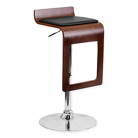 Flash Furniture Bentwood Drop Bar Stool In Black Walnut Bed Bath Beyond