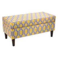 Skyline Furniture Storage Bench in Yellow