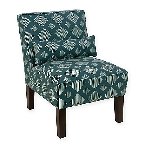 Skyline Furniture Accent Chair In Line Lattice Teal Bed