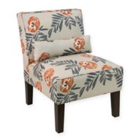 Skyline Furniture Modern Arm Chair in Mod Floral Orange