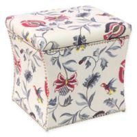 Skyline Furniture Storage Ottoman in Bright Cream