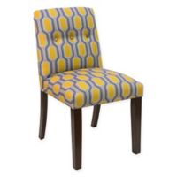 Skyline Furniture Dining Chair in Hexagon Yellow
