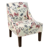 Skyline Furniture Swoop Arm Accent Chair in Jacobean Bright Cream