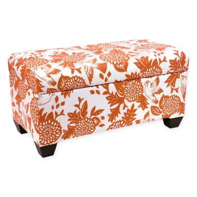 Genial Skyline Furniture Skirted Storage Bench In Orange
