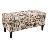 Skyline Furniture Storage Bench in Cow Cream