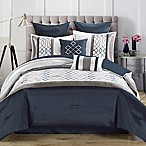 Tempo Queen 8-Piece Comforter Set in Steel Blue