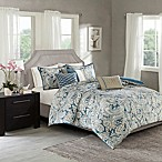 Madison Park Gabby Full/Queen Duvet Cover Set in Blue