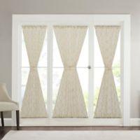 Madison Park Irina Diamond Sheer 25-Inch x 40-Inch Sidelight Panel in Ivory
