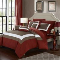 Chic Home Dylan 10-Piece King Comforter Set in Brick