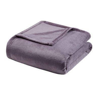 comfort classics microlight twin blanket in purple