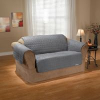 QuickCover Premium Waterproof Premium Condo-Size Love Seat Protector in Slate