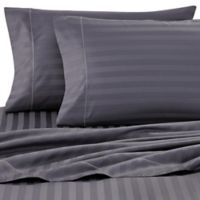 Wamsutta® Damask Stripe 500-Thread-Count PimaCott® Twin Sheet Set in Denim