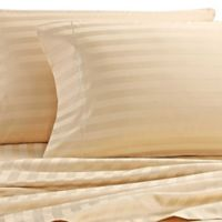 Wamsutta® Damask Stripe 500-Thread-Count PimaCott® Full Sheet Set in Honey