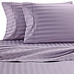 Wamsutta® Damask Stripe 500-Thread-Count PimaCott® Queen Sheet Set in Purple