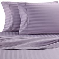 Wamsutta® Damask Stripe 500-Thread-Count PimaCott® King Pillowcases in Purple (Set of 2)