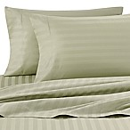 Wamsutta® Damask Stripe 500-Thread-Count PimaCott® Twin Sheet Set in Sage