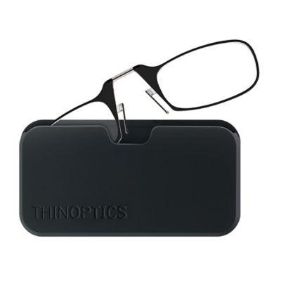 ThinOptics Universal +2.00 Reading Glasses with Pod in Black