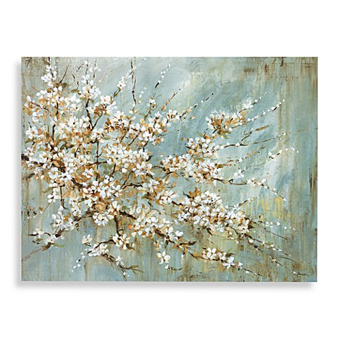 Blossom canvas wall art bed bath beyond for Best brand of paint for kitchen cabinets with cherry blossom canvas wall art