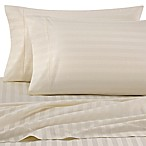 Wamsutta® Damask Stripe 500-Thread-Count PimaCott® Queen Sheet Set in Ivory