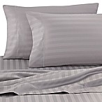 Wamsutta® Damask Stripe 500-Thread-Count PimaCott® Queen Sheet Set in Silver