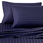 Wamsutta® Damask Stripe 500-Thread-Count PimaCott® Full Sheet Set in Navy