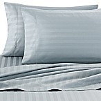 Wamsutta® Damask Stripe 500-Thread-Count PimaCott® Queen Sheet Set in Aqua