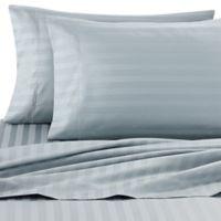 Wamsutta® Damask Stripe 500-Thread-Count PimaCott® Full Sheet Set in Aqua