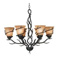 Kenroy Home Twigs 6-Light Chandelier with Bronze Finish