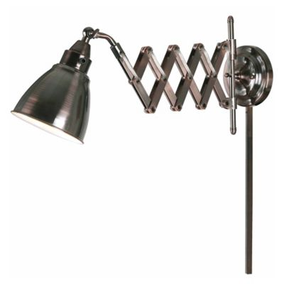 Wall Lamps Bed Bath Beyond : Kenroy Home Floren 1-Light Swing Arm Wall Lamp with Fabric Shade - Bed Bath & Beyond