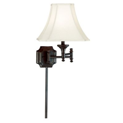 Wall Lamps Bed Bath Beyond : Kenroy Home Wentworth 1-Light Swing Arm Wall Lamp in Bronze - Bed Bath & Beyond