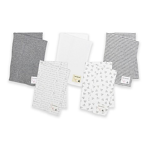 Burt's Bees Baby® 5-Pack Organic Cotton Burp Cloths in Grey
