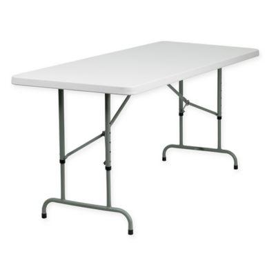 flash furniture 6foot rectangular folding table in granite white - 6 Foot Folding Table
