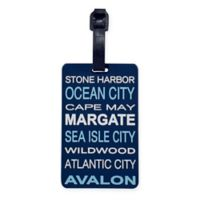 """Kennedy International™ """"South Jersey Shore"""" Luggage Tag"""