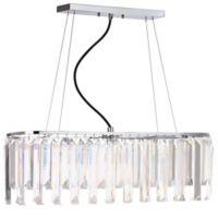 Safavieh Elegant Linear 6-Light Adjustable Pendant in Chrome