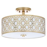 Safavieh Vera 3-Light Semi Flush-Mount Ceiling Fixture in Gold