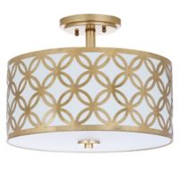 Safavieh Cecily 3-Light Semi Flush-Mount Ceiling Fixture in Gold