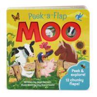 """Peek-A-Flap Board Book: """"Moo"""" by Jaye Garnett"""
