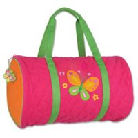 Stephen Joseph® Butterfly Quilted Duffle in Pink