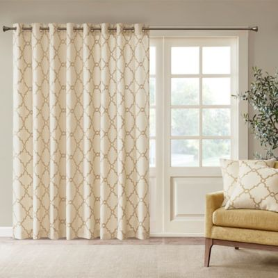 Madison Park Saratoga Fretwork Patio 100 Inch X 84 Inch Window Curtain  Panel In