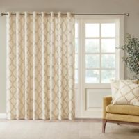 Madison Park Saratoga Fretwork Patio 100-Inch x 84-Inch Window Curtain Panel in Beige/Gold