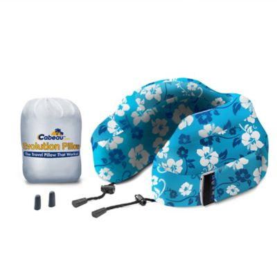 cabeau memory foam evolution pillow in tropical blue