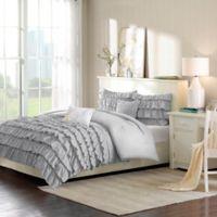 Intelligent Design Waterfall Full/Queen Comforter Set in Grey